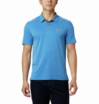 Columbia Nelson Point Poloshirt M Blue