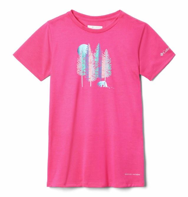 Columbia Girls Ranco Lake T Shirt XS Cactus Pink