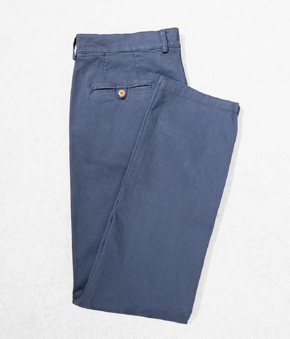 Fishers Chino Trousers 34L Navy