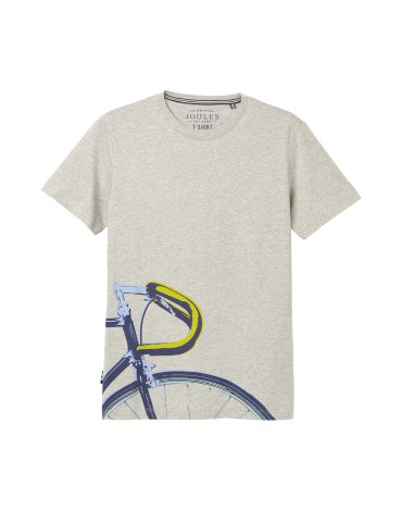 Joules Flynn Bike T Shirt M Grey