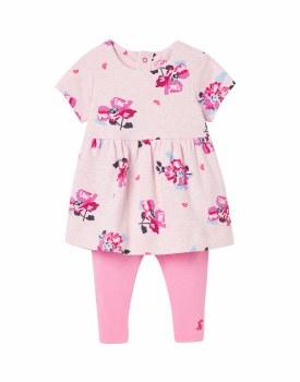 Joules Christina Dress Set 9-12m Pink Marl