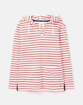 Joules Lisa Stripe Hoodie 16 Cream Red
