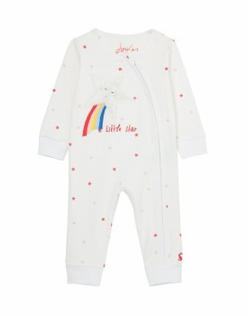 Joules Winfield Little Star Babygrow 0-3m White