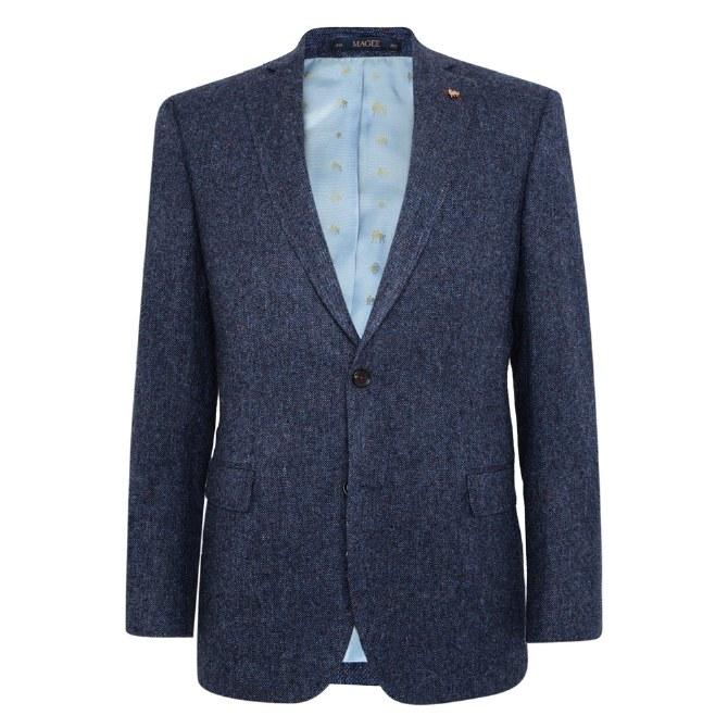 Magee Donegal Tweed Jacket 40R Navy