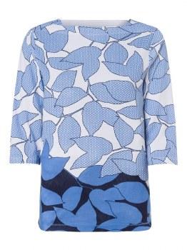 Olsen Block Colour Print Top 10 Blue
