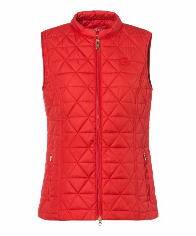Olsen Recycled Diamond Quilt Gilet 10 Red