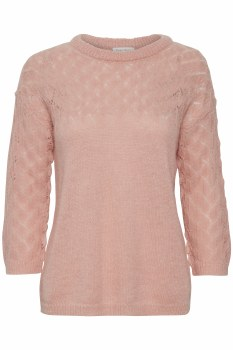 Part Two Adora Lace Knit Jumper XL Rose