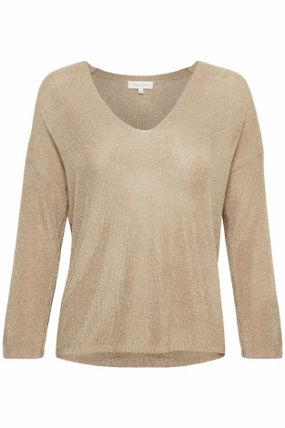 Part Two Beda Shimmer Knit XL Cafe Creme