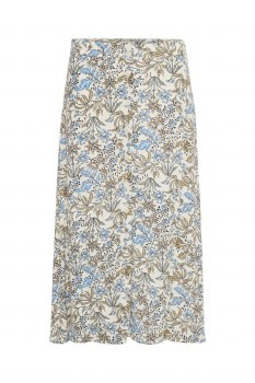 Part Two Carina Floral Skirt 8 Blue