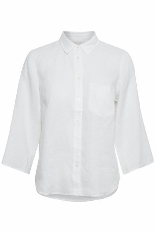 Part Two Cindie Linen Shirt 8 White