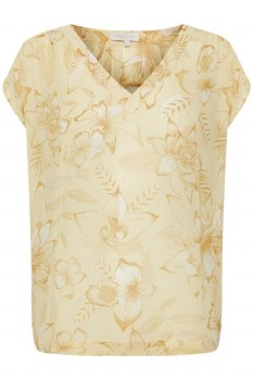 Part Two Cher Top 16 Yellow Floral