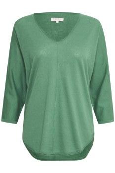 Part Two Hido Linen Mix Jumper L Green