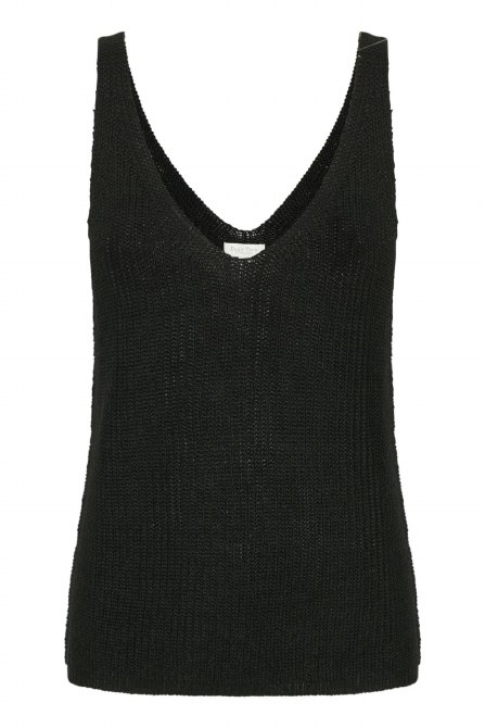 Part Two Camerona Knit Top M Black
