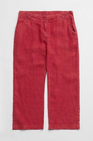 Seasalt Brawn Point Linen Trousers 10 Dahlia