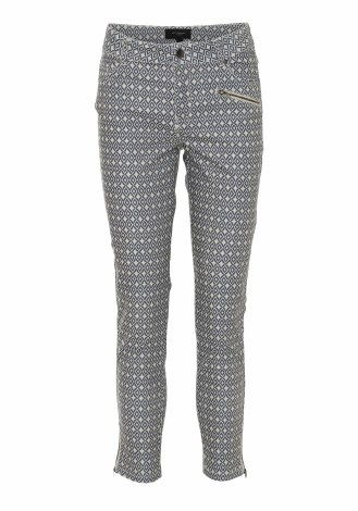 Soya Concept Geo Print Trousers 10 Blue