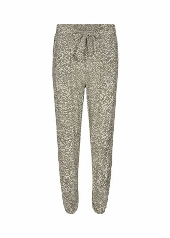 Soya Concept Print Trousers L Green