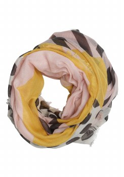 Soya Concept Mix Print Scarf Pink