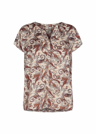 Soya Concept Print Top S Cream