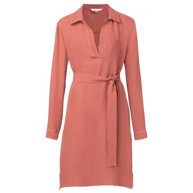 YAYA Belted Midi Dress 12 Terracotta