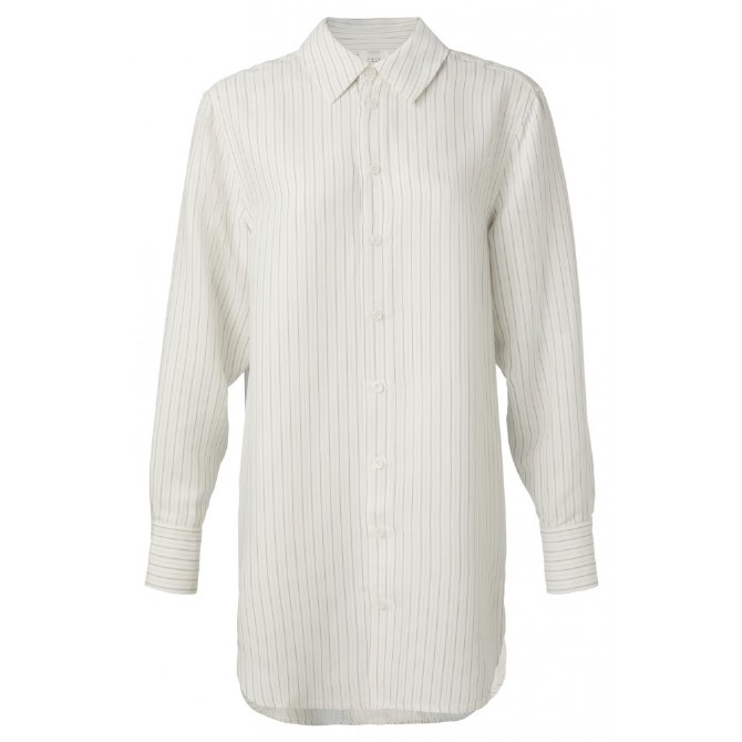 YAYA Jacquard Stripe Shirt 10 Blue