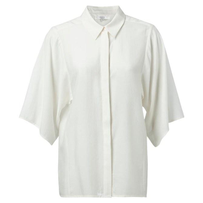 YAYA Kimino Sleeve Blouse 8 Off White