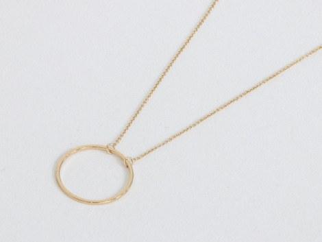 Big Metal London Helen Circle Necklace