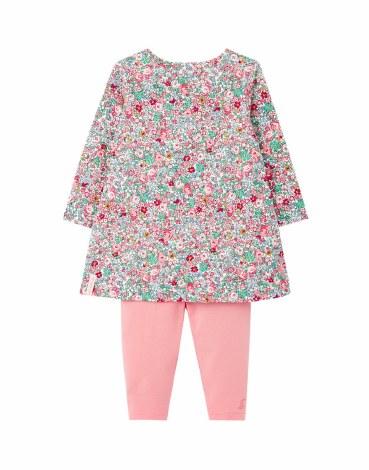 Joules Christina Dress Set 6-9m White Ditsy