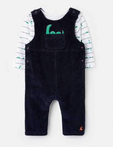 Joules Farnham Cord Dungarees 6-9 months Navy