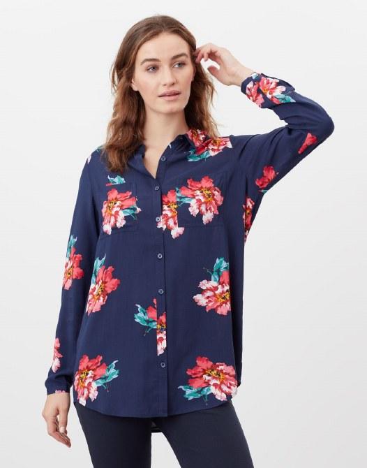 Joules Elvina Shirt 14 Navy Peony