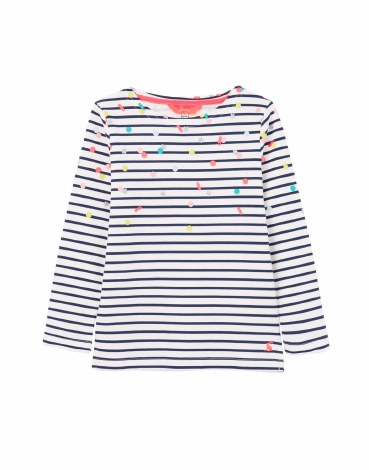 Joules Harbour Print Top 3 yrs Navy Confetti