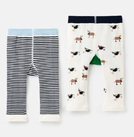 Joules Lively Leggings 6-12 months Cow Sheep