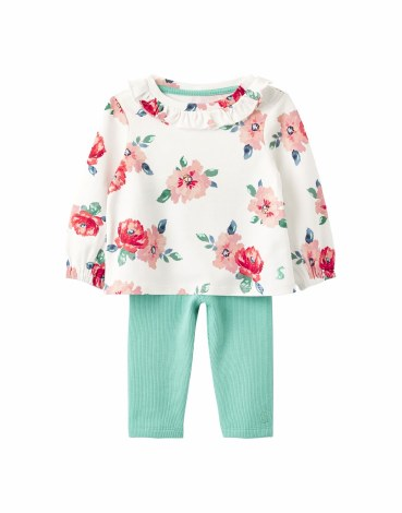 Joules Posie Set 9-12 months White Floral