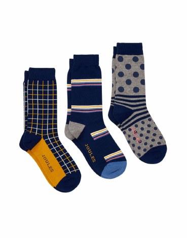 Joules Striking Socks 7-12 UK Multi