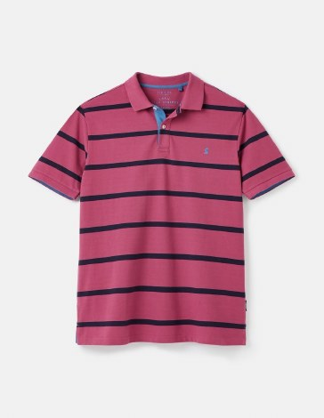 Joules Filbert Stripe Polo S Purple Stripe