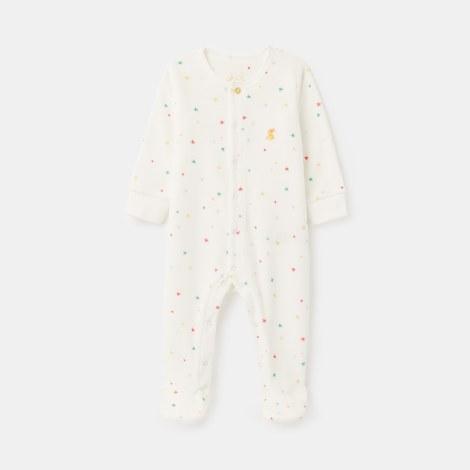 Joules Velour Babygrow 3-6 months White Star