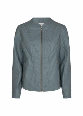 Soya Concept Pleather Jacket 12 Green