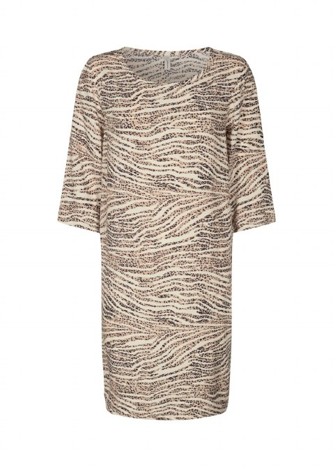 Soya Concept Print Shift Dress S Beige