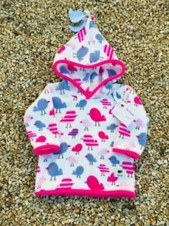 Shepi Originals Little Birds Pixie Hoodie 1-2 years White & Pink