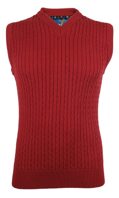 Fishers Cruz Cable Slipover M Red