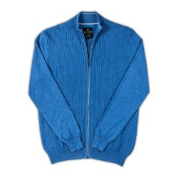 Baileys Zip Cardigan 3XL Blue