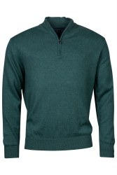 Baileys Cotton/Wool Mix Quarter Zip 3XL Green-552