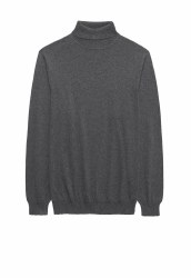 Brook Taverner Arrow Roll Neck Jumper M Charcoal