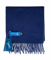 Fishers Wool Cashmere Scarf Blue-8015