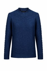IE Rathgar Funnel Neck Jumper M Navy Sail