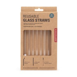 Kikkerland Clear Glass Straws
