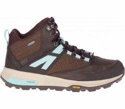 Merrel Zion Mid GTX Boot 4   Seal Brown