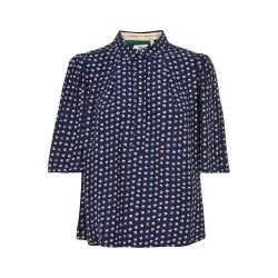 Noa Noa Spotted Blouse 8 Blue