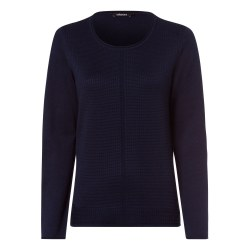Olsen Textured Classic Jumper 12 Navy