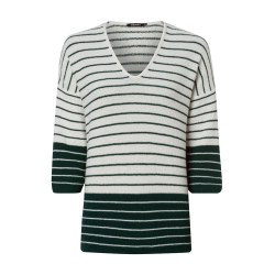 Olsen Chenile Stripe Jumper 10 Off White