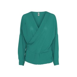 Soya Concept Wrap Blouse 12 Ivy Green